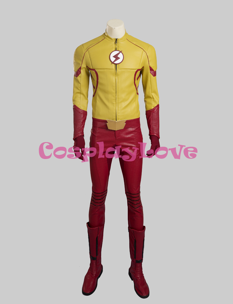 The Flash Season 3 Wally West Cosplay Costume Barry Allen cos for Adult