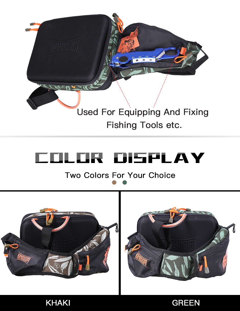 Kingdom 2019 New Waterproof Fishing Bag Large Capacity Multifunctional Fishing Lure Box Tackle Backpack Outdoor Shoulder Bags 14