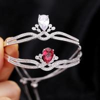 New Personality High grade Bracelet Cubic Zircon Crown Adjustable Copper Chain Charm Bracelet & Bangle Br 201