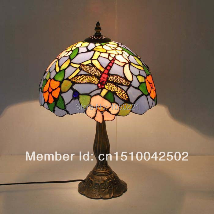 Tiffany Table Lamps European Pastoral Dragonfly Table Light Bedroom Bedside Desk  Table Light Tiffany Table Lamps