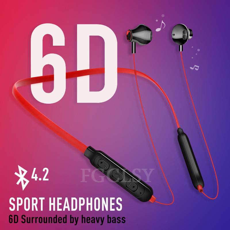FGCLSY z pałąkiem na kark bezprzewodowy zestaw słuchawkowy Bluetooth słuchawki stereofoniczne z mikrofonem auriculares fone de ouvido Sport słuchawki douszne dla iPhone