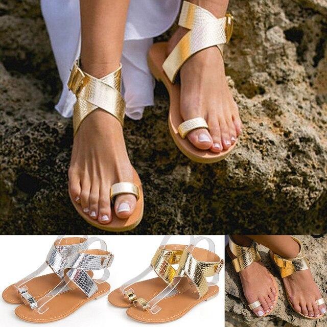 6ac3d59ebb3556 MORBARRZ Summer Cross Belt Rome Sandals Women 2018 Fashion Strappy  Gladiator Low Flat Shoes Open Toe Beach Sandals Shoes