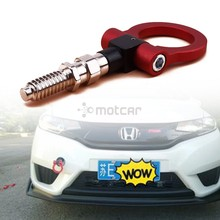 Universal 1set Red Aluminum Car Auto Racing CNC Trailer Ring Tow Hook Eye Tow Car Screwon Front For EURO Car Opel VW Citroen abs metal colorful tow hook allen wrench car auto trailer decorative tow hook universal for truck suv front bumper automotive