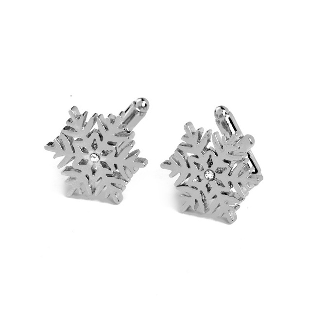 Romantic Crystal Flower Wedding Cufflinks