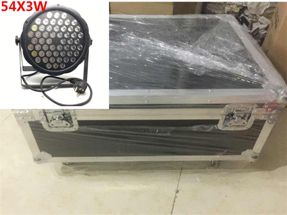 12 pz 54x3 w led par + flightcase + cavo dmx dj par led rgbw wash disco light dmx controller dmx luce cavo top 10