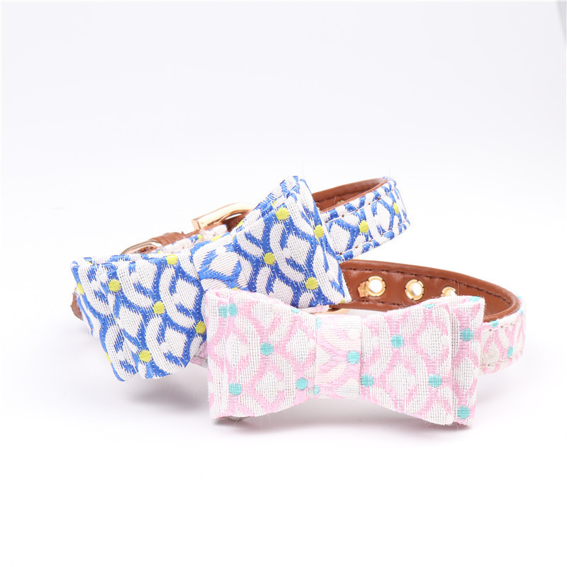Hot Sales Soft PU Leather Fashion Dog Collar Stylish Cat Solid Stylish Collars with Scale Pattern for Small Pet Dog Wholesales