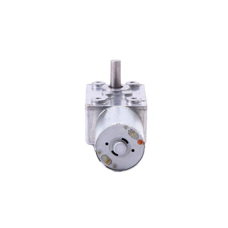 5RPM Motoriduttore Turbina Elettrico Reversibile ad Alta Coppia Riduttore Motore a Vite Senza Fine da DC 12V