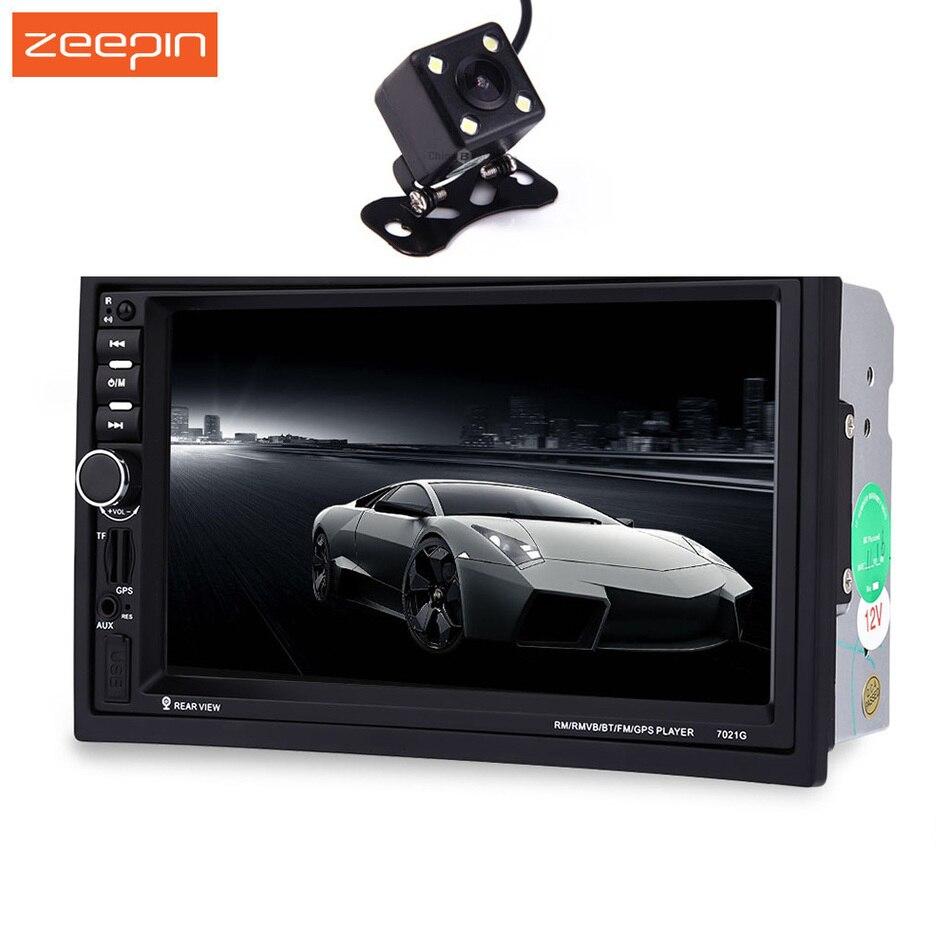Zeepin7021G 2 DIN Авто Мультимедийные плееры для автомобиля + GPS навигация 7 ''HD Сенсорный экран MP3 MP5 аудио стерео Радио Bluetooth FM USB