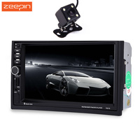 7021G 2 Din Auto Car Multimedia Player With GPS Navigation 7 HD Touch Screen MP3 MP5