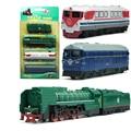 Model Kit Set Pull Back metal Steam Train Series Train Kids Toy 1/64 Transportation Christmas gift boy Locomotive YD GOOD FRIEND