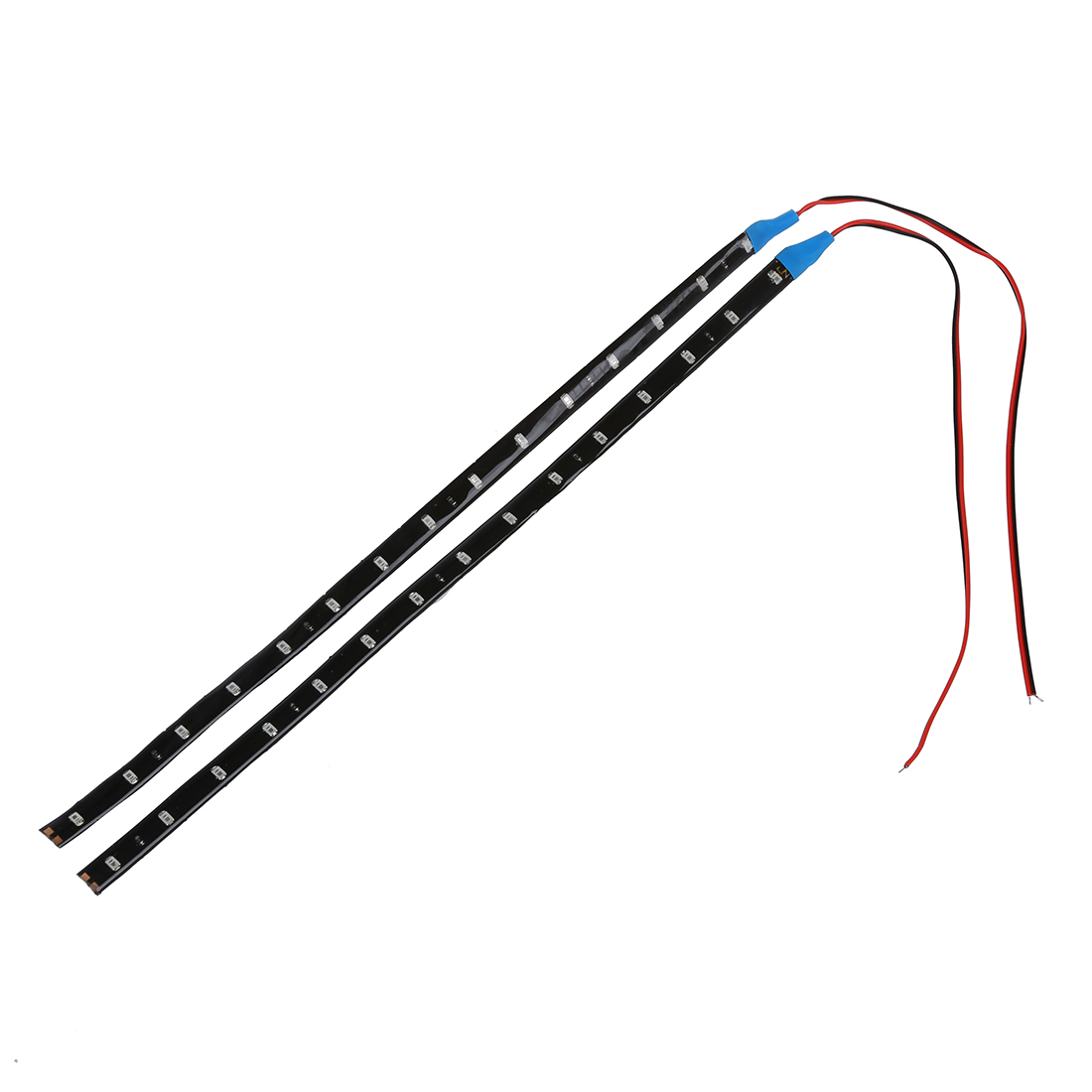 Brand New 2pcs 30CM 15SMD Car Strip Under Light Neon Footwell Flexible Waterproof - Blue