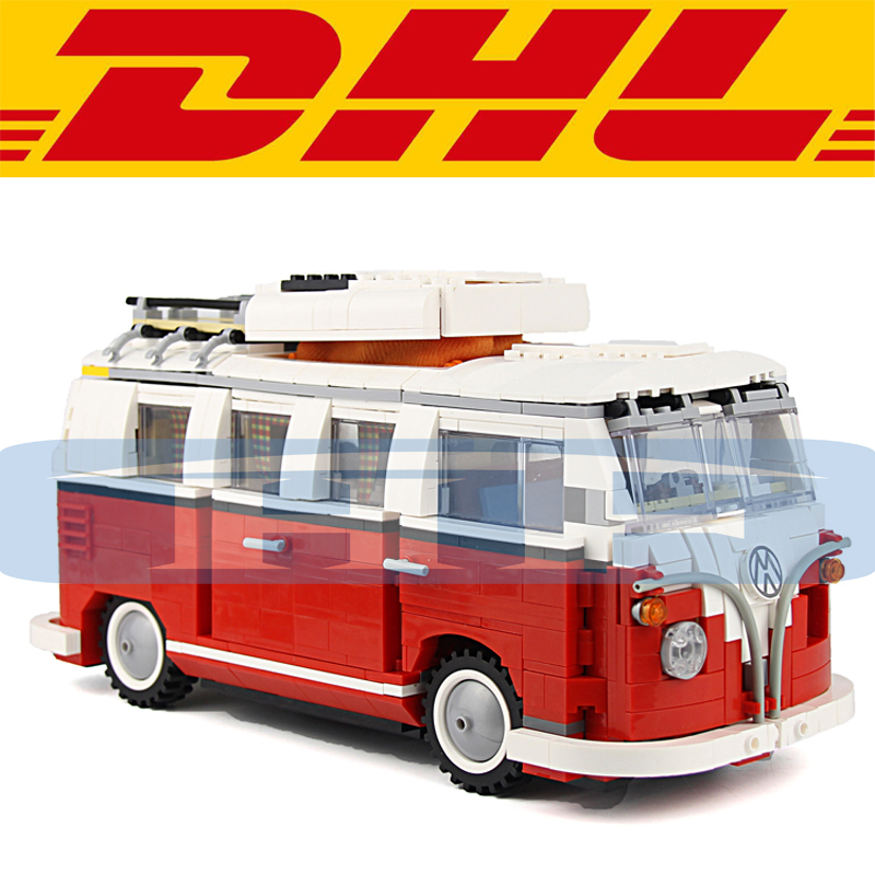 2016 New Yile 1354Pcs Volkswagen T1 Camper Van Model Building Kits Block Bricks Toys Compatible Gift 10220 new bricks 22001 pirate ship imperial warships model building kits block briks toys gift 1717pcs compatible 10210