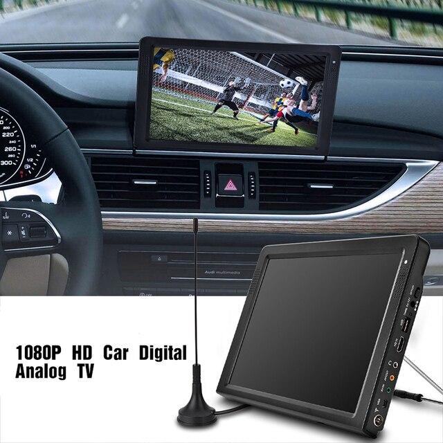 """LEADSTAR 12,1 """"DVB Digital Fernsehen 1080 p HD Tragbare Auto Analog Digital TV HDMI USB MOV AVI MP4 Fernsehen unterstützung TF Karte"""