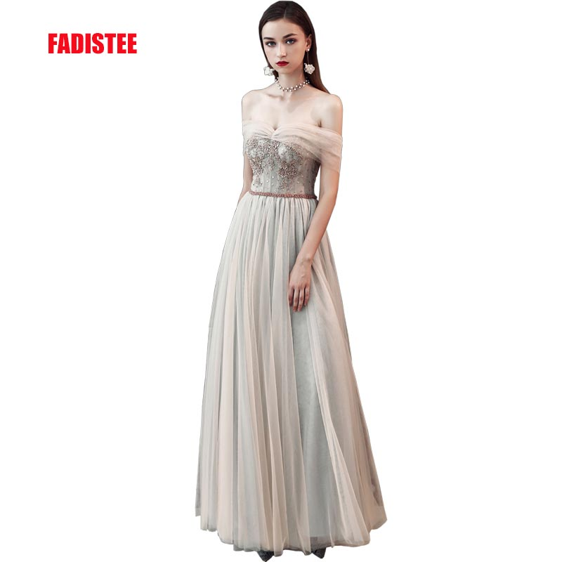 FADISTEE 2019 nouveauté robe de soirée robe de soirée Vestido de Festa sexy tulle a-ligne cristal robe de bal simple nouveau style