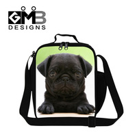 Animal Dog Design Lancheira Thermo Lunch Bag For Students Kids Lunchbags Thermal Food Tote With Zipper Lunch Box Insulation Bag