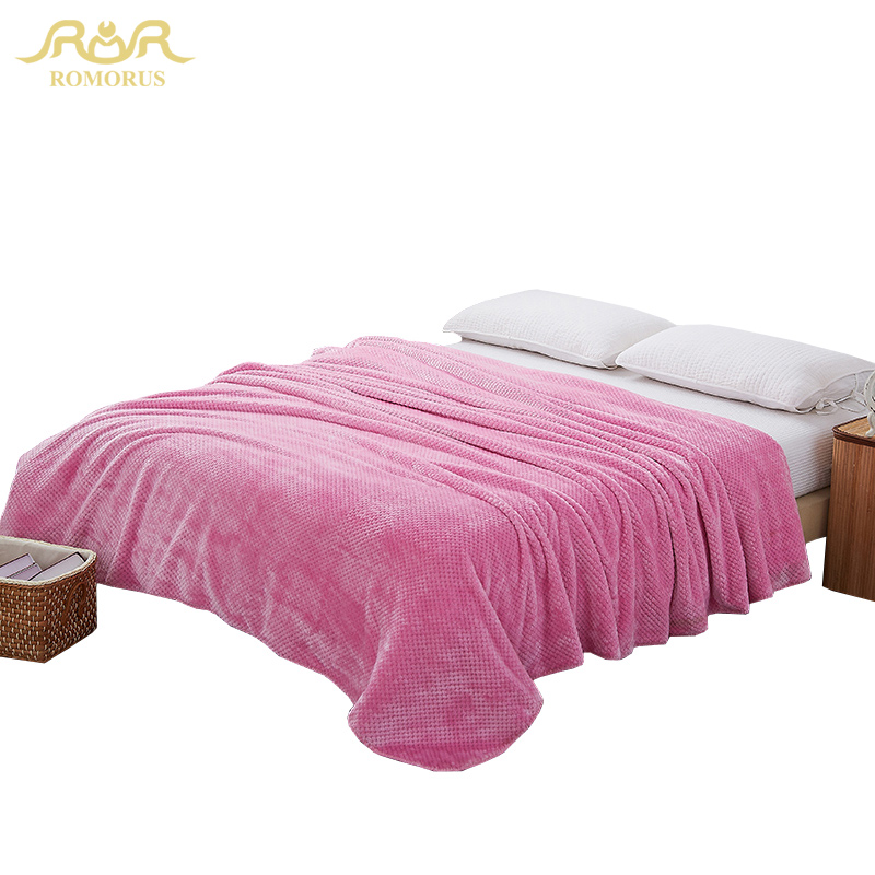 Romorus Super Soft C Fleece Blanket Full Queen King Size Baby Blankets High Quality Solid Color Throw On Bed Sofa