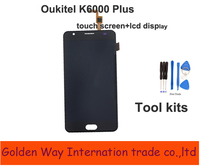 Angcoucoux Display For Oukitel K6000 Plus LCD Touch Screen Glass Panel Digitizer Assembly Replacement Parts For