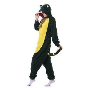 Image 3 - Kigurumi men women Anime Unisex Adult Sleepwear Crocodile Onesies Pajamas Cosplay Costume Halloween Carnival Masquerade Party