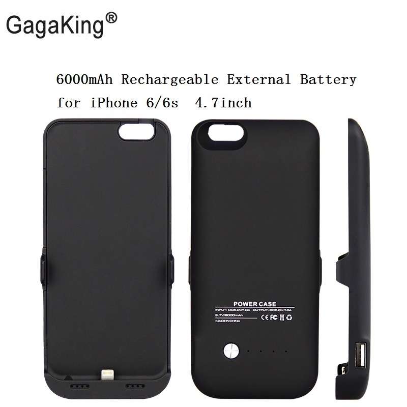 Hot sale SYR 6000mAh Rechargeable External Battery Backup Charge Case Cover Pack Power Bank for iPhone