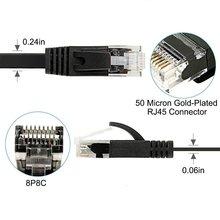 10 m/15 m/30 mFlat Cabo Ethernet RJ45 lan cabo cat6 Plana 1000 Mbps de Rede CAT 6 Router cabo Ethernet para Computador Portátil PC ps4