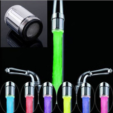 Новинка, модный Светодиодный водопроводный кран, светильник, 7 цветов, меняющий свечение, насадка для душа, кухонный датчик температуры, 0902