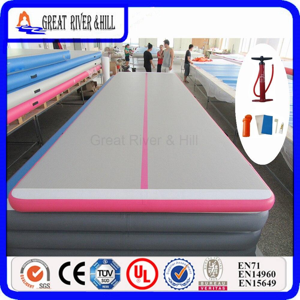 Grand plancher d'air gonflable de colline de rivière avec la taille concurrentielle de prix 7 m x 1.8 m x 0.15 m faite à la main à vendre