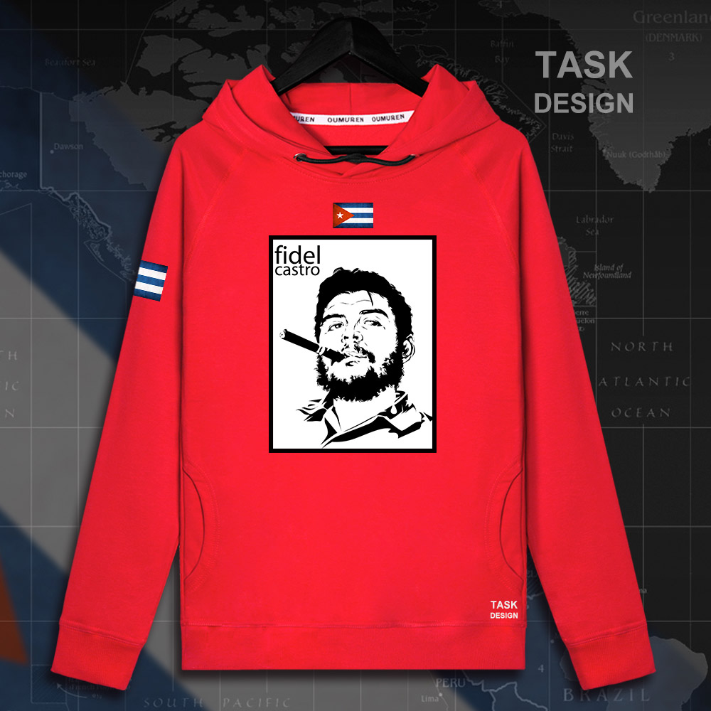 Fidel Castro pullovers hoodies President of Cuba hoodie men sweatshirt polo sweat hip hop streetwear tracksuit 2018 souvenir 07