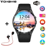 ToHayie KW88 Smart Watch Android 5 1 OS MTK6580 Quad Core 1 3GHZ 2 0MP