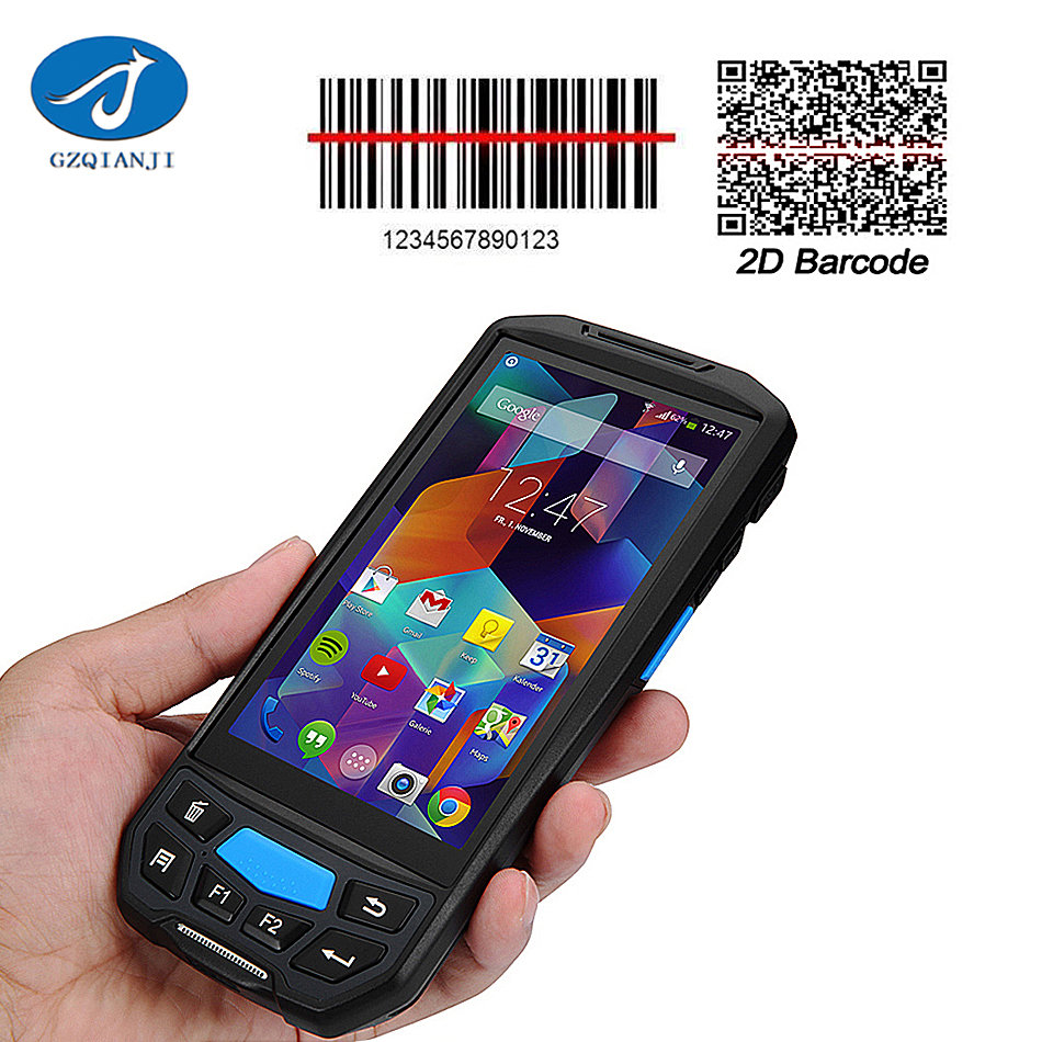 Rugged Handheld Terminal Android Barcode Scanner Phone Qr Code Scanner 5.0 inch Thinnest Industrial Mobile Terminal Handheld PDA