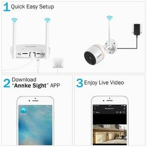 Image 4 - ANNKE RU מכירה 4CH 1080P אלחוטי אבטחת CCTV מערכת Wi Fi מיני NVR ערכת מעקב IP אלחוטי מצלמות PIR SD כרטיס הקלטת