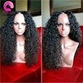 7A Afro Kinky Curly U Parte Peruca Brasileira Virgem Do Cabelo Humano Encaracolado U Perucas Peças Para Venda Sem Cola Upart Peruca Para Mulheres Negras Barato