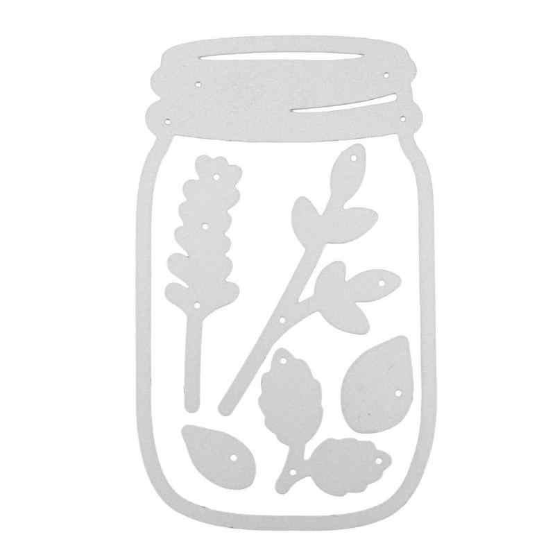 Fleur Vase coupe meurt pochoir bricolage Scrapbooking Album Photo estampage cartes en papier travaux manuels enveloppe Invitation décoration découpé