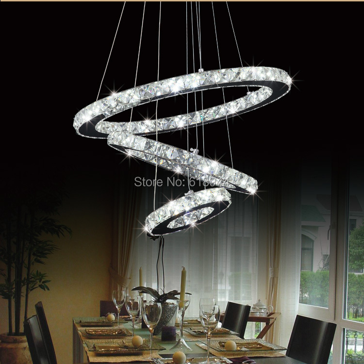 Hot Selling Modern Diamond Ring LED Crystal Pendant Lights, LED Lighting Fixture Circles Lamp, Fast and Free Shipping free shipping hot selling 1m pcs led aluminum profile for led strips with milky or clear cover and end caps clips
