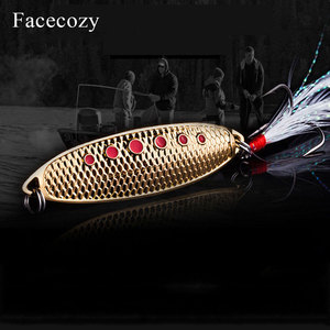 Image 4 - Facecozy Metal Bionic Leeches High Reflectivity Swimbait Dots Fish Scales Design 1Pc Tassel Tail Fishing Lures Artificial Bait