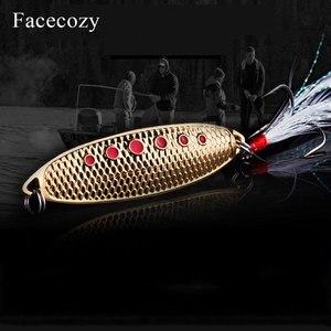 Image 4 - Facecozy Metal biyonik sülükler yüksek yansıtma Swimbait nokta balık terazi tasarım 1 adet püskül kuyruk balıkçılık Lures yapay yem