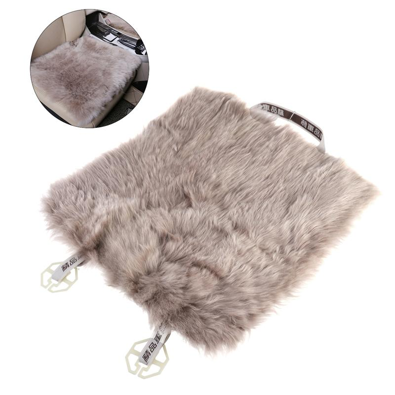 VORCOOL Car Seat Cover Sheepskin Wool Car Seat Cushion Fur Wool Chair Pad kawosen 2 pcs australian sheepskin fur seat cover super warm universal car seat cover 1 pair wool car seat covers cushion wscp02