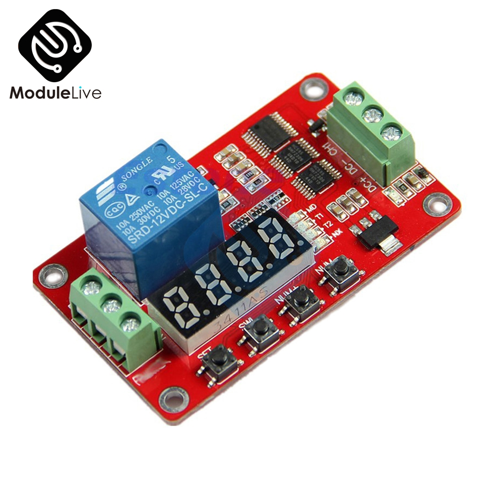 12V DC Multifunction Self-lock Relay PLC Cycle Delay Time Timer Switch Module PLC Home Automation Delay Module Board недорго, оригинальная цена