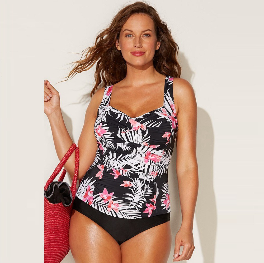 Aquabelle swimsuitsforall size 20 High Neck Tankini top NEW!!!