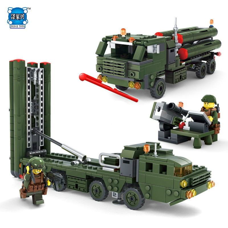 536Pcs Lepins NEW Field Army Series Missile Launcher Military Building Blocks Bricks Action Figures Educational Toy for Children