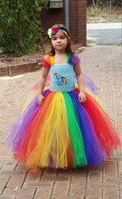 new 2t12t girls tutu dress my little pony cosplay costtume hand crochet dress for child stage performance costume halloween