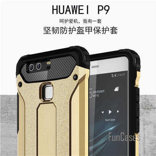 Hybrid Dura del PC della Cassa Del Silicone per Huawei Ascend P9 Slim Case Armatura Anti-Shock Cassa per il Caso di Huawei P9 5.2 pollici