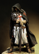 Assembly Scale 1/18  90mm Templar Sergeant, XIII century 90 mm figure  Resin Model  Unpainted