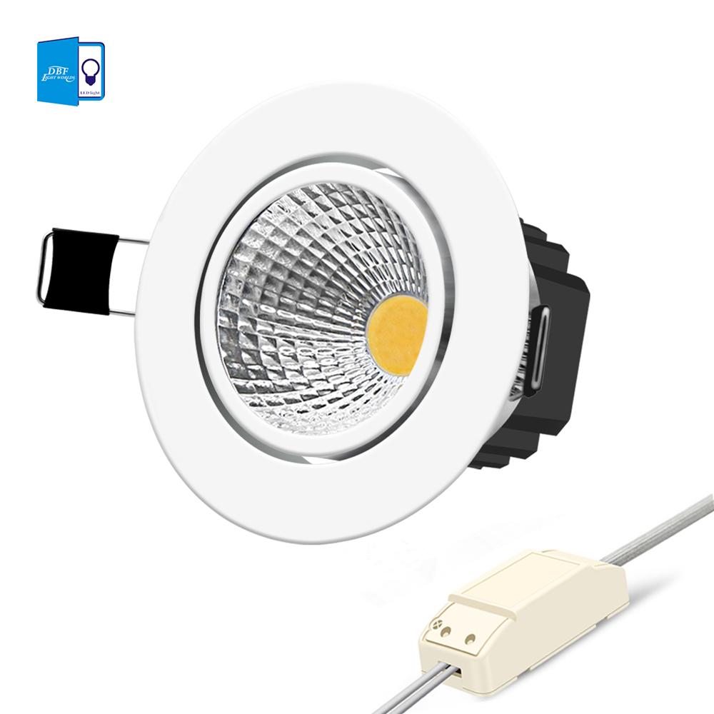 Silver Dimmable Led Downlight Lamp 7w 9w 12w 18w 24w Cob Led Spot Ac110v-220v Ceiling Recessed Downlights Square Led Panel Light Wide Selection; Lights & Lighting