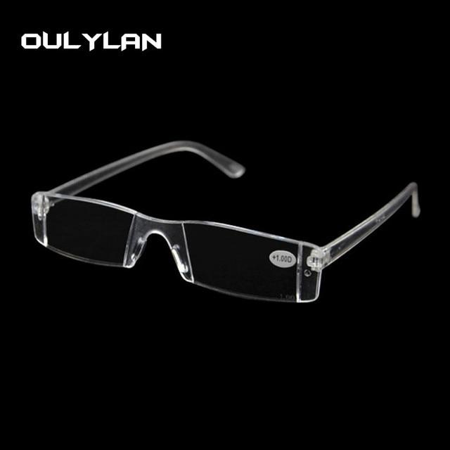 e5481d18a2 Oulylan Clair Lunettes de Lecture Femmes Hommes Sans Monture Vision Loupe  Lunettes Portable Hypermétropie Ordonnance EyeglassesParents