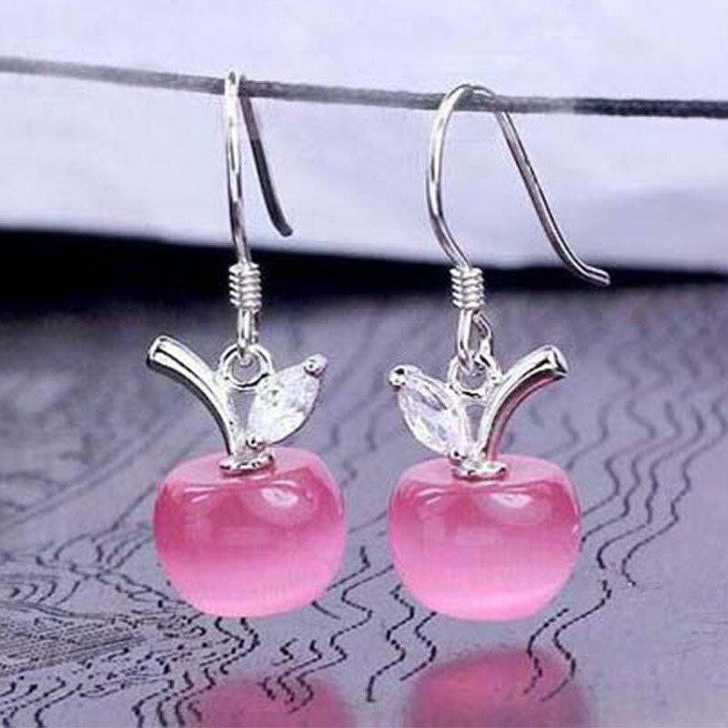 Μόδα ροζ Λευκό μήλο Opal πέτρα - Κοσμήματα μόδας - Φωτογραφία 5