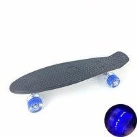 3 Pastel Kleur vierwielaandrijving 22 Inches Mini Cruiser Skateboard Street Lange Skate Board Buitensporten Met LED Licht wielen