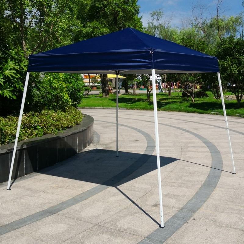 Fotografia scenic 10'x10 Barraca de Camping Dobrável Fácil Pop Up Gazebo do Dossel Pavilhão Pátio Ao Ar Livre Tenda Do Casamento Do Partido Do Evento com Saco Azul EUA Estoque - 6