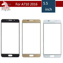 10pcs/lot For Samsung Galaxy A7 2016 A710 A7100 A710F A710M A710H Front Outer Glass Lens Touch Screen Panel Replacement