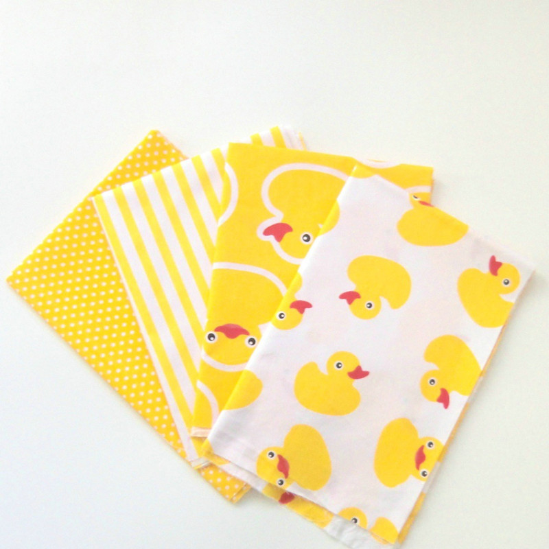 Yellow Duck Cotton Quilting Fabric for DIY Sewing Patchwork Kids Bedding Bags Tilda Doll Baby Cloth Textiles Fabric yellow cloth