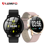 LEMFO CF18 1.22 Inch Smart Watch Waterproof IP67 Blood Pressure Monitoring Metal Starp Multi Sport Modes SmartWatch Women Band